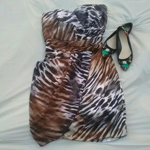 Like new animal print party dress